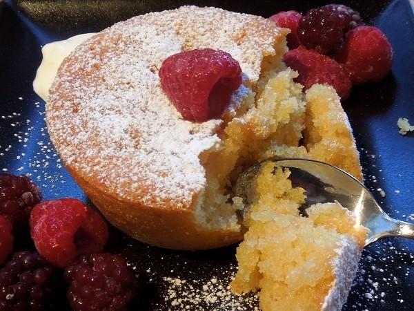 Lemon Polenta Drizzle Cakes
