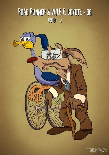 Your Favorite Cartoon Characters Reimagined As Senior Citizens