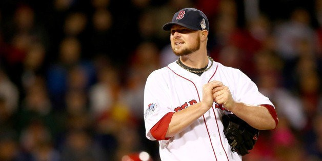 Jon Lester Cheating? Red Sox World Series Game 1 Pitcher Had Mystery Green Spot On Glove (PHOTOS)