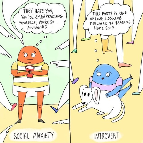 The Difference Between Social Anxiety And Introversion, In 4 Comics | HuffPost Life