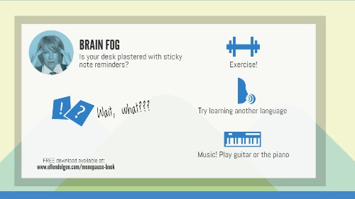 Menopause Infographic: Brain Fog