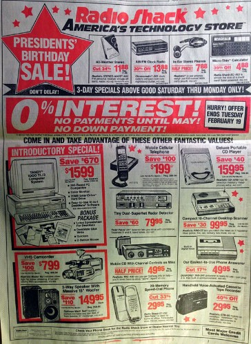 Everything From This 1991 Radio Shack Ad You Can Now Do With Your Phone