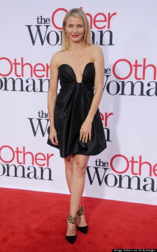 Cameron Diaz's Plunging Dress Steals The Show At 'The Other Woman' Premiere