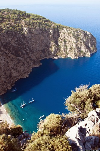 Butterfly Valley Is Not Only Turkey's Most Perfect Beach, But An Actual Butterfly Wonderland