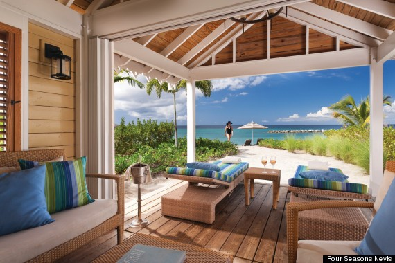 We're Dreaming Of These Beach Huts At The Four Seasons Nevis