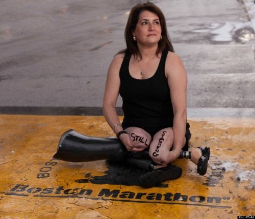 Portraits Of Boston Marathon Survivors See Runners Returning To The Finish Line To Look Back