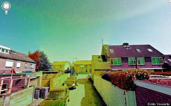 Google Street View Glitches Become Beautiful Art