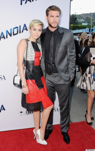Miley Cyrus' Red Carpet Dress Is Sending A Message (PHOTOS)