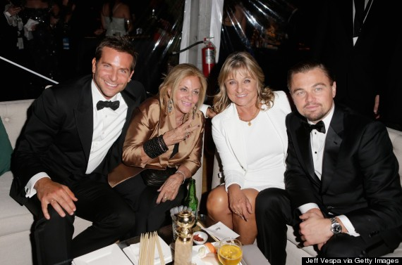 Bradley Cooper, Leonardo DiCaprio Party With Their Moms After The Golden Globes