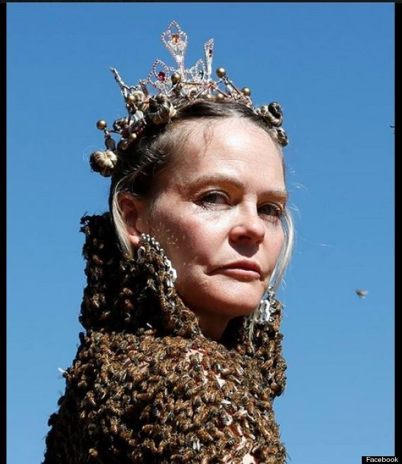 Topless Woman Dances With 12,000 Bees (VIDEO)
