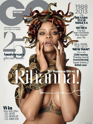 Rihanna Works With Damien Hirst For British GQ's Anniversary Issue (PHOTOS)