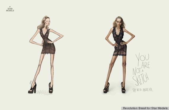 Anti-Anorexia Ads Stun With Tagline 'You Are Not A Sketch' (PHOTOS)