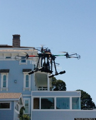 Drones Deliver Champagne To Guests At $10,000-Per-Night California Hotel