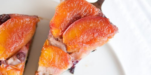 Easy Pretty - Nectarine-Blueberry Upside Down Cake