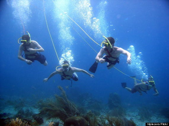 SNUBA Is Basically Like Scuba Diving Or Snorkeling, But Easier