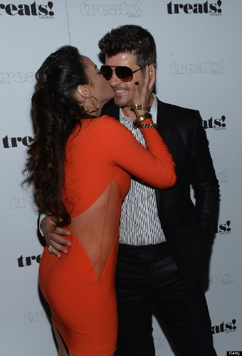 Robin Thicke, Paula Patton Spotted Getting Cozy At Party After Cheating Allegations Surface