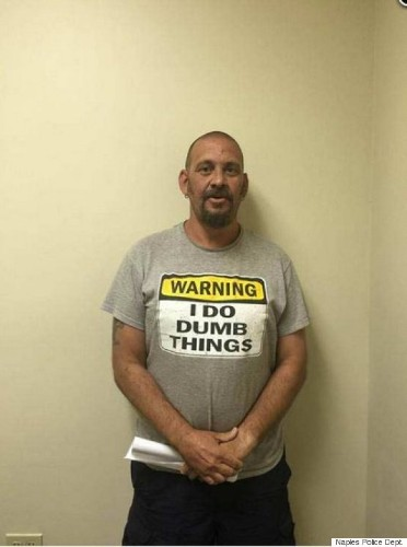 Accused Burglar Arrested Wearing 'Warning: I Do Dumb Things' T-Shirt