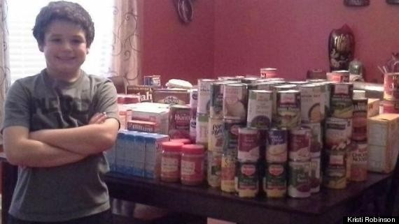 This 9-Year-Old Collected 400 Pounds Of Food For The Needy For Thanksgiving