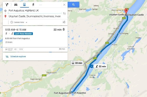 Google Maps Now Offers Dragon, Loch Ness Monster As Public Transportation Options