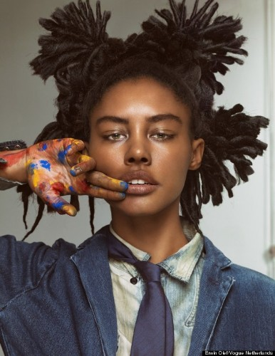 This Basquiat Inspired Beauty Feature In Vogue Netherlands Is Amazing (PHOTOS)