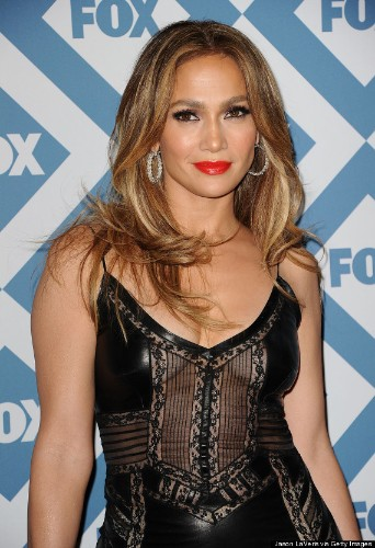 Jennifer Lopez Wows In Leather Dress While Promoting 'American Idol'