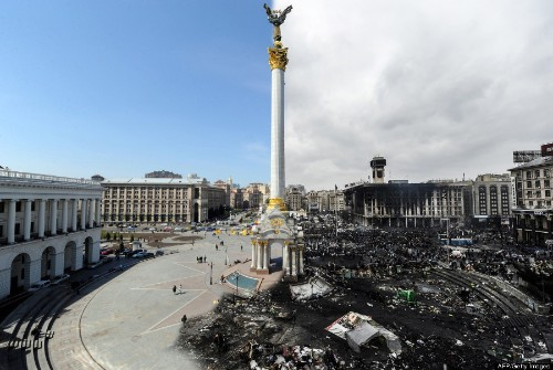 This Before-And-After Photo Of Independence Square Tells You Everything You Need To Know About Ukraine