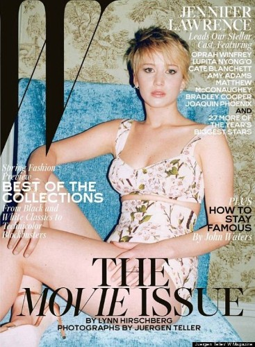 Jennifer Lawrence Dons Sexy Bra Top On The Cover Of W Magazine