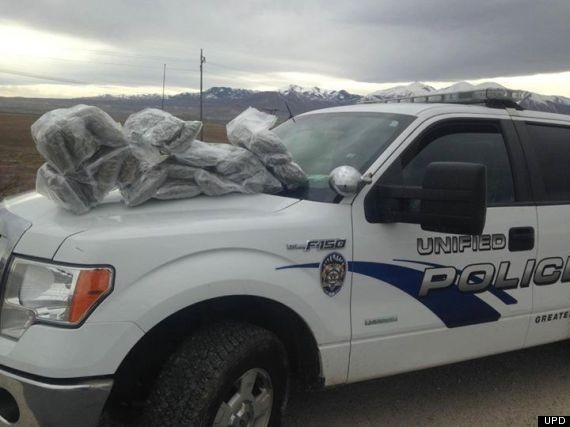 Cops Really Want You To See Their 22 Pounds Of Weed, Man