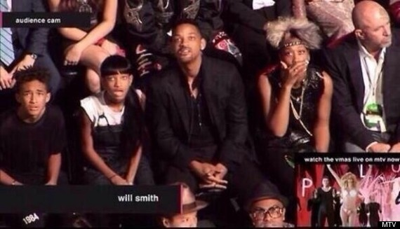 Will Smith's Family Was Not Reacting To Miley Cyrus' Raunchy VMA Performance