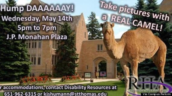 Students Protest Free Camel Rides On Campus