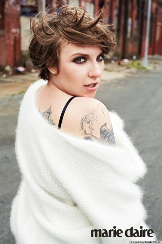 Lena Dunham On Her First Fashion Cover: 'People Think I Walk Around In A Washcloth'