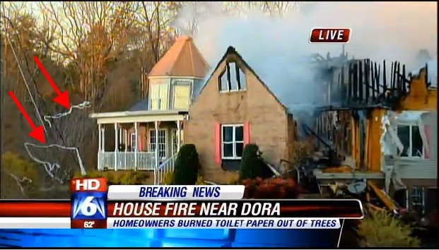 Family Burns Down House Cleaning Up Toilet Paper With Fire