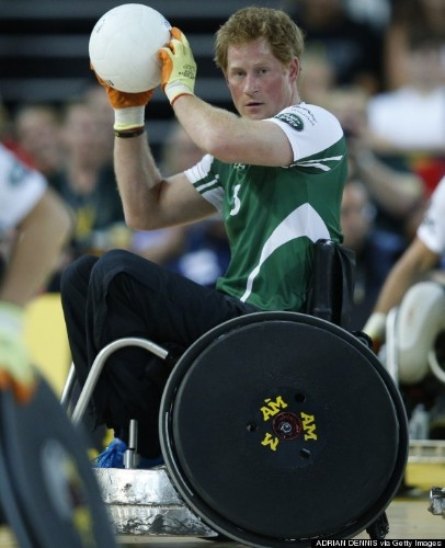 Prince Harry Plays Wheelchair Rugby To Raise Awareness For Wounded Vets