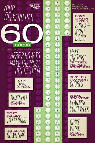 You Have 60 Hours Worth Of Weekend. Here's How To Make The Most Of It.