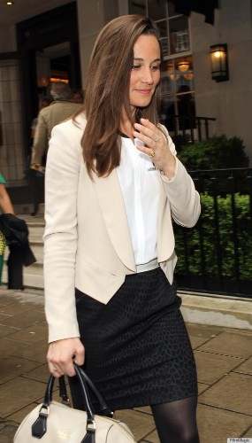 Pippa Middleton's Shoes Add A Punch Of Fun To Lunch Outfit (PHOTOS)