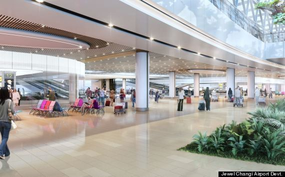 The Airport Of The Future Has A Waterfall, Of Course