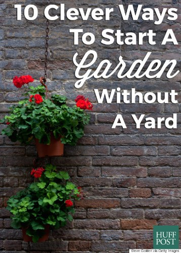 Start A Garden, No Matter How Little Space You Have. Here's How.