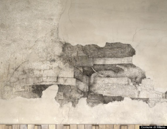 Leonardo Da Vinci Mural Discovered Under Layers Of Paint During Sforza Castle Restoration In Italy