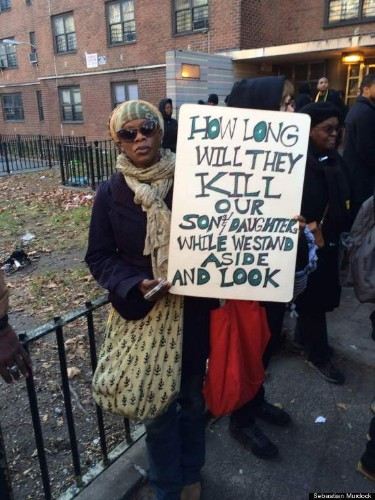 Akai Gurley Protest Draws Hundreds In Brooklyn