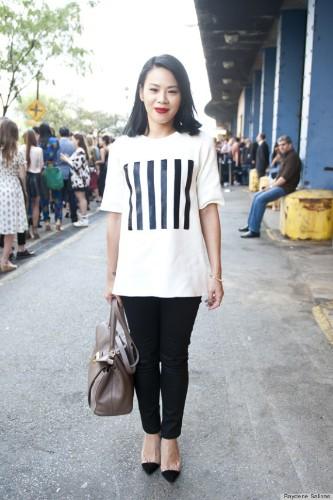 Fashion Week Street Style 2013: Stars In Stripes (PHOTOS)