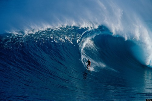 Stunning Visuals Of Surfers Owning Hawaii's Most Dangerous Wave