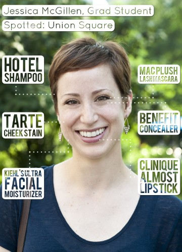Jessica McGillen, Grad Student, Maintains Her Pixie With Hotel Shampoo