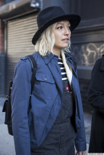 New York Fashion Week Fall 2014 Beauty Street Style: Banging Bobs From Day 2 (PHOTOS)