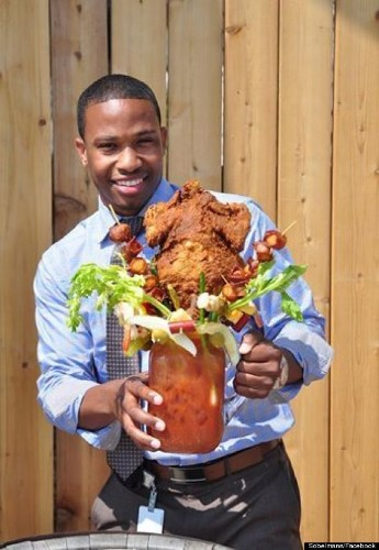 The 'Chicken Fried Bloody Beast' Is A $50 Bloody Mary With A Whole Fried Chicken