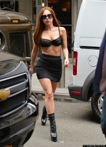 Lady Gaga's Bra Is All The Clothing She Needs In This New York Weather (VIDEO, PHOTO)