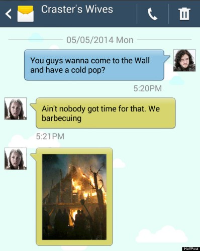 'Game Of Thrones' Characters Texting About The Latest Episode Is Everything