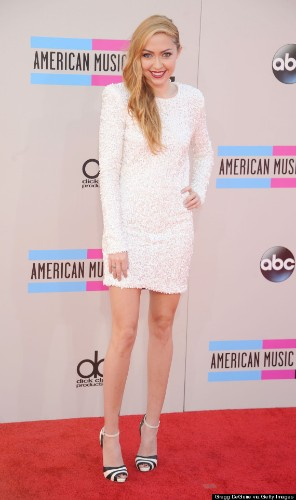 Miley Cyrus' Sister, Brandi Cyrus, Hits The AMAs Red Carpet