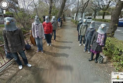 Japan's Google Street View Pigeonheads Are Hilariously Creepy (PHOTO)