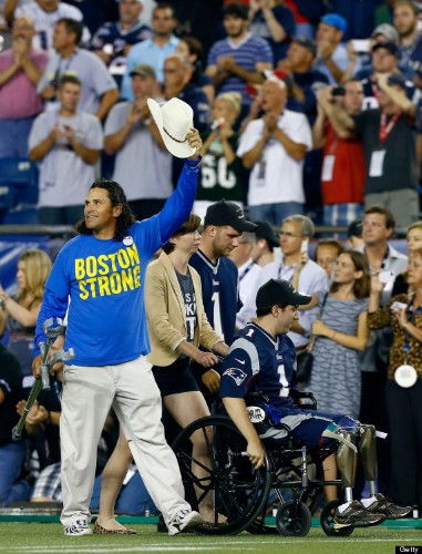 Boston Marathon Bombing Survivors Honored At Patriots Game In Moving Pre-Game Ceremony (PHOTOS)