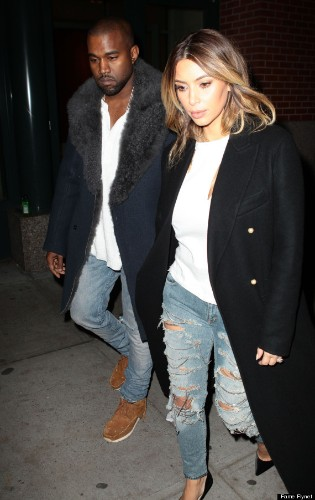 Kim Kardashian And Kanye West Wear Matching Outfits In Brooklyn